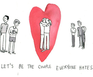 couple, love, and hate image