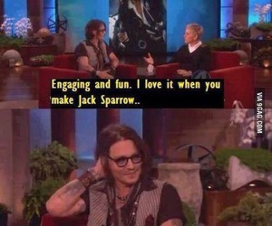 johnny depp, funny, and captain jack sparrow image