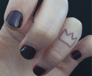 crown, nails, and tattoo image