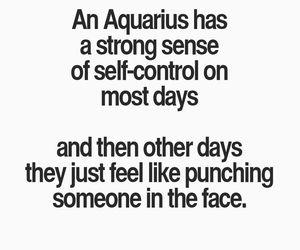 aquarius, quote, and zodiac image