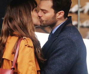 christian grey, anastasia steele, and fifty shades of grey image