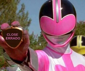 power rangers, ranger rosa, and memesbr image