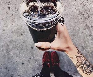 black, coffee, and Tattoos image