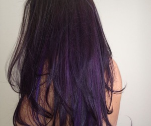 purple, hair, and black image