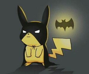 pikachu, pokemon, and batman image