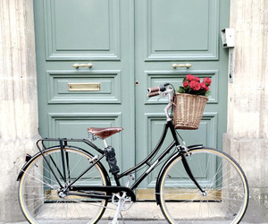 bike, bicycle, and door image