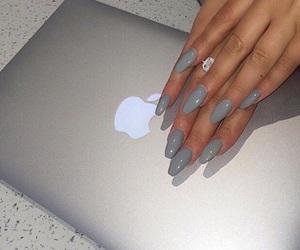 nails, apple, and grey image