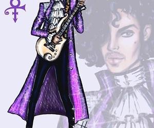 prince, drawing, and purple rain image