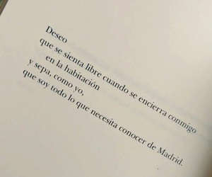 deseo, madrid, and poetry image