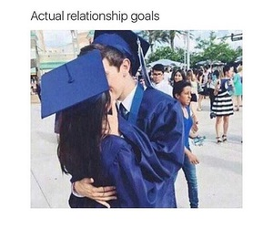 goals, couple, and graduation image