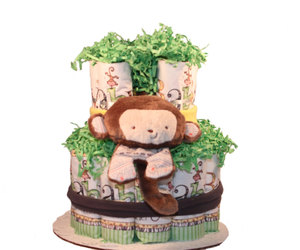 etsy, shower centerpiece, and baby diaper cake image