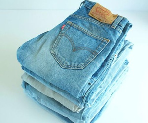 jeans, blue, and vintage image