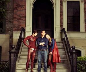 melissa benoist, grant gustin, and Supergirl image