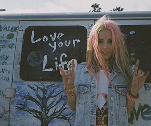 girl, grunge, and hippie image
