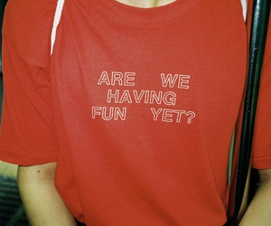 red, grunge, and fun image