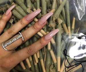 nails, weed, and theme image