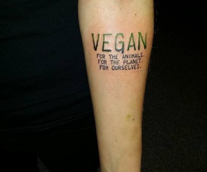 ink and vegan tattoo image