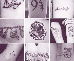 harry potter, tattoo, and always image