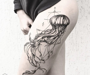 girl, Hot, and tattoo image