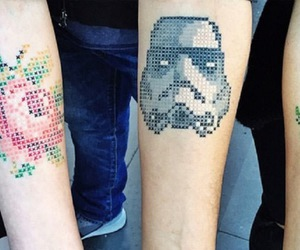 tattoo, rose, and star wars image