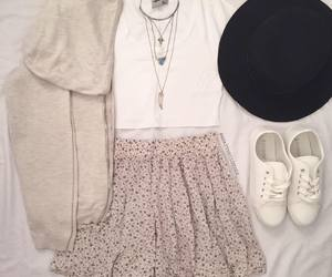 cardigan, outfit, and fashion image