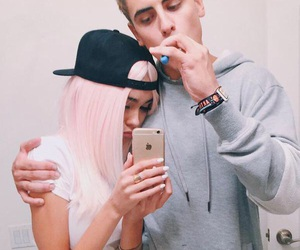 madison beer, couple, and jack gilinsky image