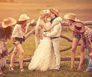 country, farm, and wedding image