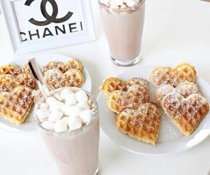 food, chanel, and waffles image