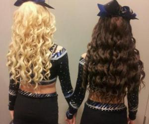 hair, cheer, and girls image