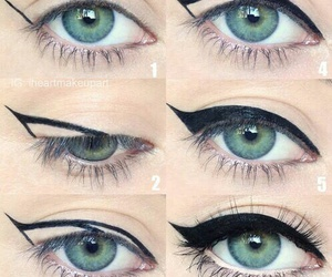 diy, eyeliner, and Easy image