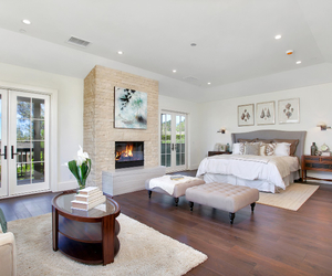 bedroom, california, and decor image