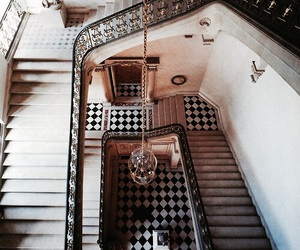 interior, architecture, and stairs image