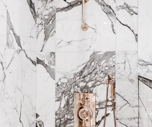 marble, shower, and gold image