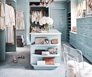interior, blue, and closet image