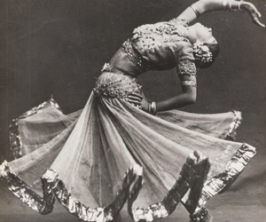 dance, india, and black and white image