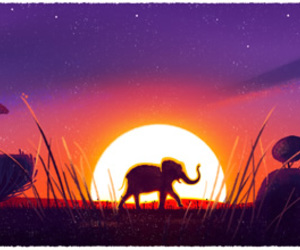 earth day and elephant image