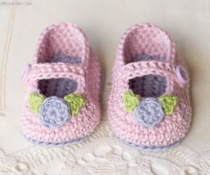baby, booties, and crochet image