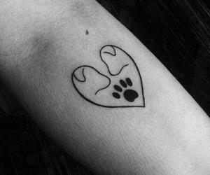 dog, tattoo, and love image