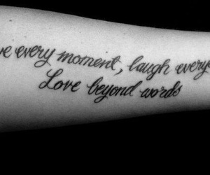 tattoo, laugh, and live image