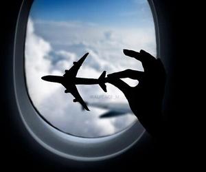 alternative, plane, and sky image