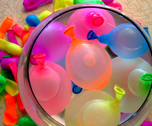 balloons, water, and summer image