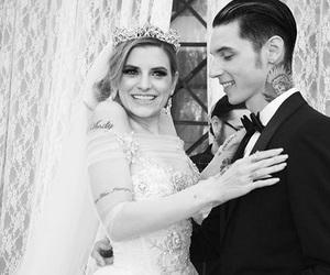 andy biersack, wedding, and juliet simms image
