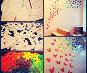 butterfly, diy, and colors image