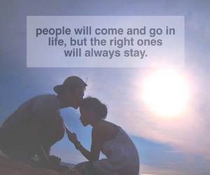 beach, couple, and quote image