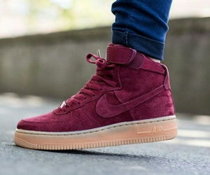 air force 1, burgundy, and nike image