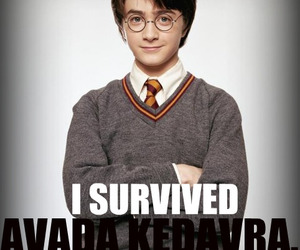 avada kedavra, daniel radcliffe, and harry potter image