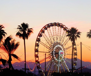 sunset, coachella, and summer image