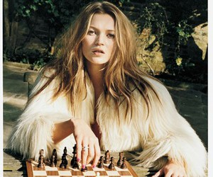 kate moss, model, and chess image