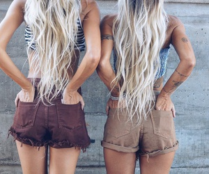 hair, fashion, and friends image