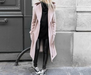 black, coat, and converse image